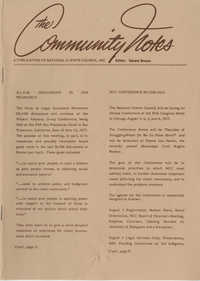 Community Notes, National Clients Council, August 1977