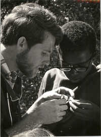 Two Young Men Investigating Nature, University of California, Santa Cruz