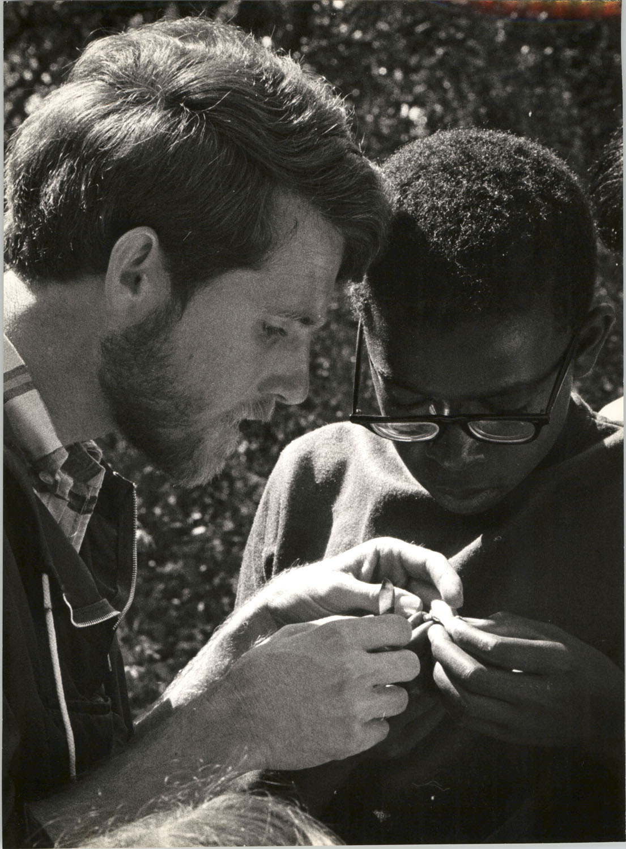 Two Young Men Investigating Nature, University of California, Santa Cruz