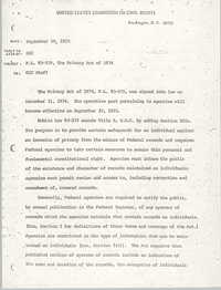 Memorandum, P.L. 93-579, The Privacy Act of 1974, United States Commission on Civil Rights, September 19, 1975