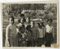 Group of Children Standing Outside, 1956