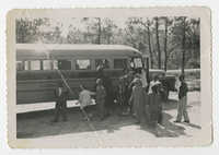 Children Debarking Bus, 1954-1956