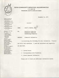 Memorandum, Penn Community Services, December 15, 1975