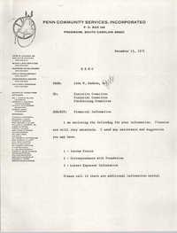 Memorandum, Penn Community Services, December 15, 1975