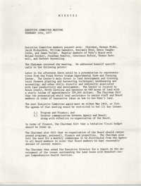 Minutes, Penn Community Services, February 18, 1977