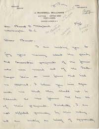 Santee-Cooper: Correspondence between J. Russell Williams, Senator Burnet R. Maybank, and John B. Wilson, Jr. (Administrator of the Agricultural Adjustment Administration), November-December 1941