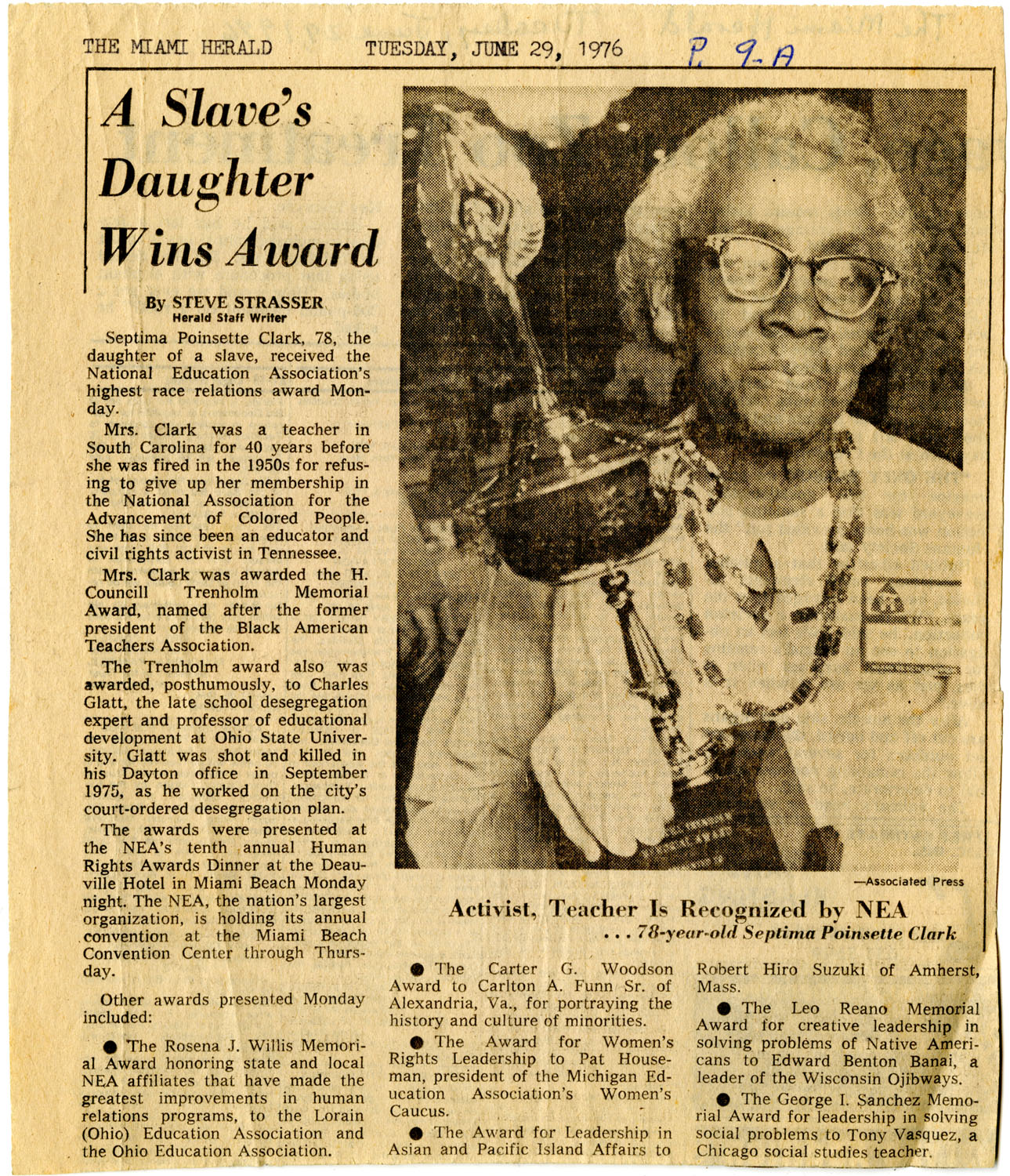 Newspaper Article, June 29, 1976