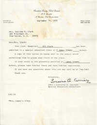 Letter from Lorraine A. Carrier to Septima P. Clark, September 14, 1970
