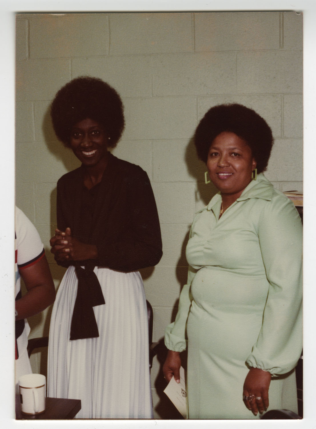 Mrs. Gethers and Mrs. Glass, Septima P. Clark Day Care Center Ceremony, May 19, 1978