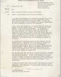 Memorandum from Courtney Siceloff to Members of the South Carolina State Advisory Committee, February 20, 1975