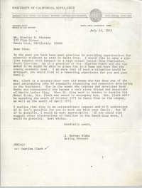 Letter from J. Herman Blake to Stanley D. Stevens, July 13, 1972
