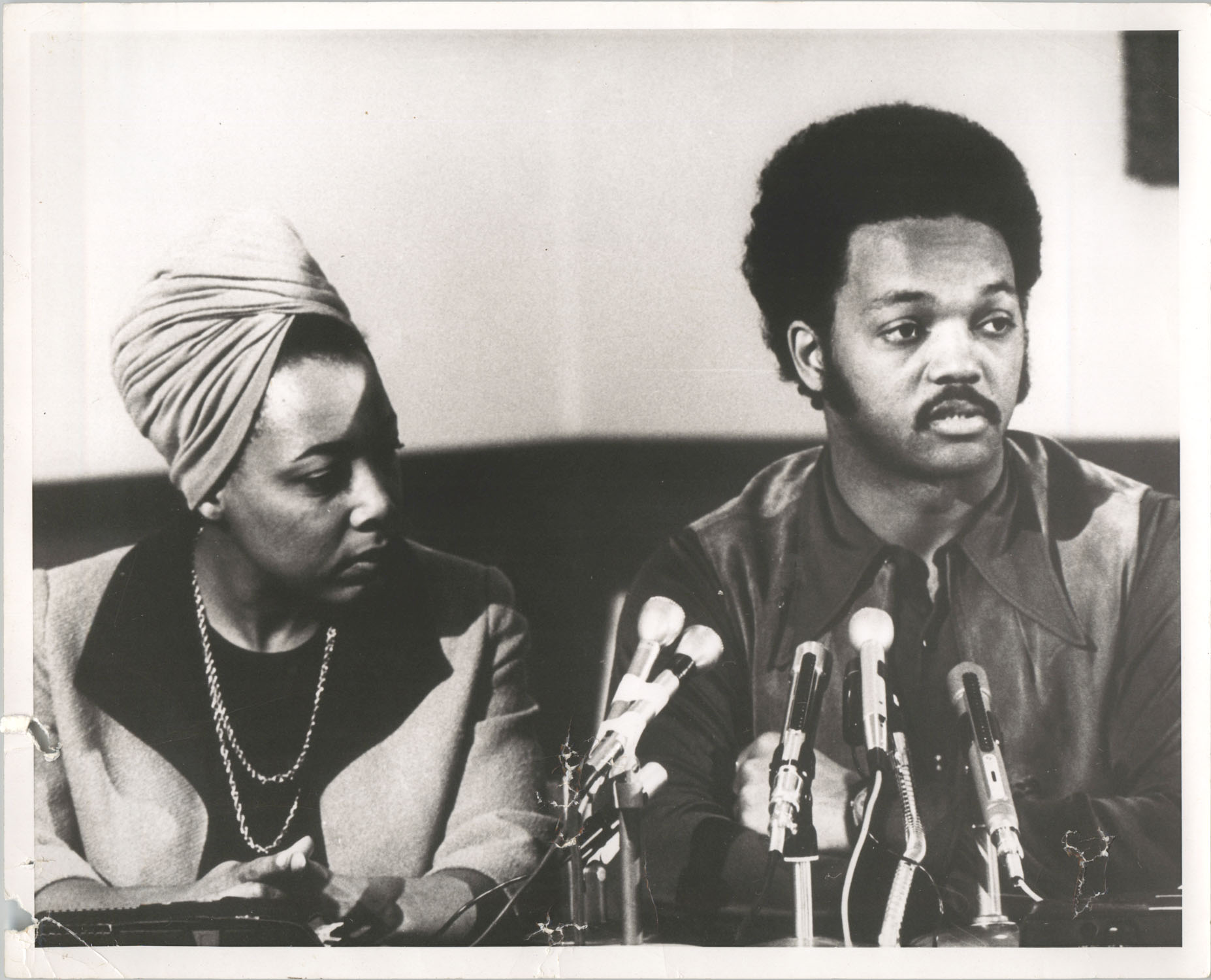 Dorothy Cotton and Jesse Jackson