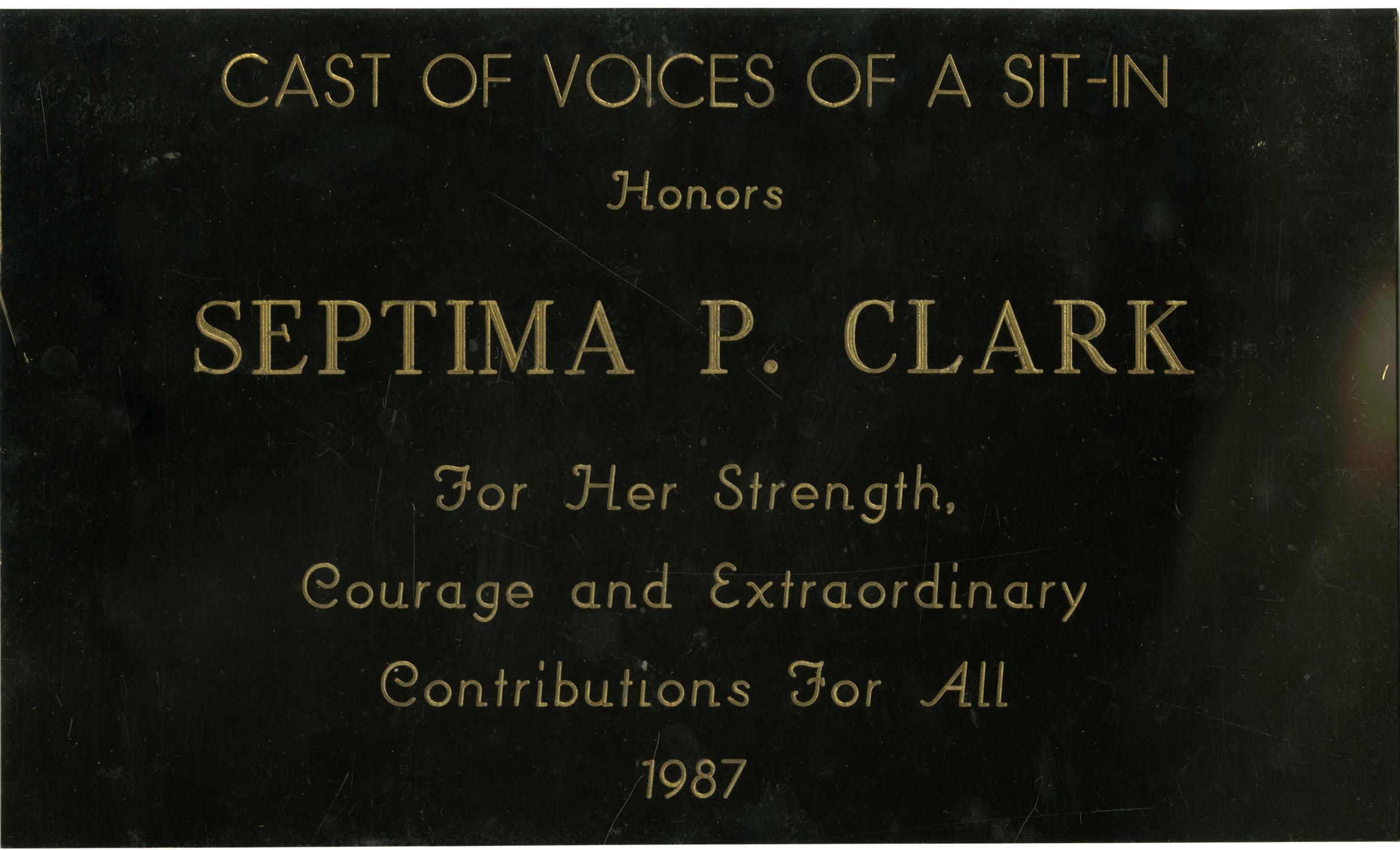 Plaque, 1987