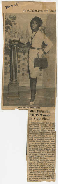 Newspaper Article, Rennee Poinsette