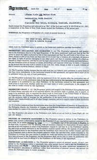 Contract for the Publication of