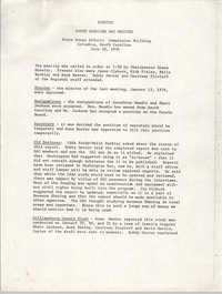 Minutes, South Carolina State Advisory to the U.S. Commission on Civil Rights, November 6, 1975