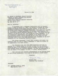 Letter from Maxwell Hahn to Wesley A. Hotchkiss, January 17, 1964