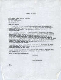 Letter from Bernice Robinson to Louise Fisher Morris, August 31, 1970