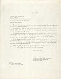 Letter from Bernice V. Robinson to Paul Hardin, Jr., July 6, 1970