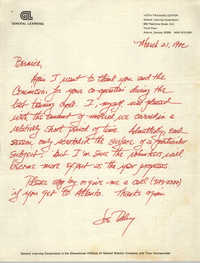 Letter from Joe Daley to Bernice Robinson, March 21, 1971