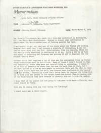 Memorandum from Bernice V. Robinson to John Hurt, February 1972