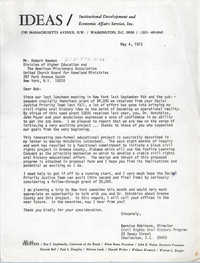 Letter from Bernice Robinson to Robert Newman, May 4, 1973