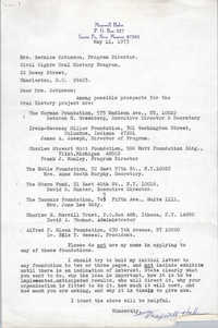 Letter from Maxwell Hahn to Bernice Robinson, May 11, 1973