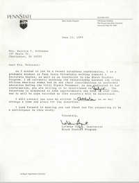 Letter from LaVerne Gyant to Bernice Robinson, May 19, 1989