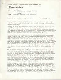 Memorandum from Bernice V. Robinson to Robert Williamson, May 10, 1971
