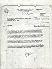 U.S. Treasury Department Determination Letter to South Carolina Commission for Farm Workers, Inc.