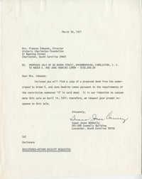 Letter from Susan Jones Connelly to Mrs. Frances Edmunds