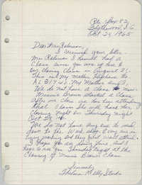 Letter from Thelma Kelly Starks to Bernice Robinson, October 24, 1965