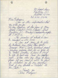 Letter from Carrie Mangum to Bernice Robinson, October 27, 1965