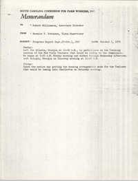 Memorandum from Bernice V. Robinson to Robert Williamson, October 5, 1970