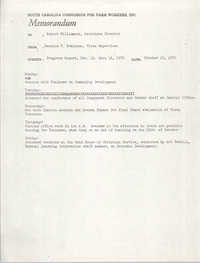 Memorandum from Bernice V. Robinson to Robert Williamson, October 19, 1970