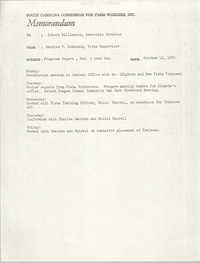 Memorandum from Bernice V. Robinson to Robert Williamson, October 12, 1970