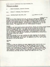 Memorandum from Bernice V. Robinson to Robert Williamson, January 25, 1971