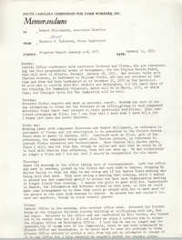 Memorandum from Bernice V. Robinson to Robert Williamson, January 11, 1971