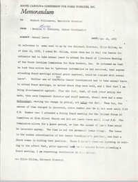 Memorandum from Bernice Robinson to Robert Williamson, June 16, 1971