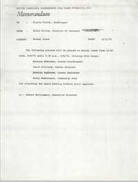 Memorandum from Ellis Gillum to Gloria Fields, June 12, 1971