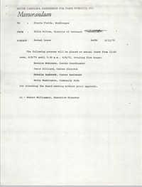 Memorandum from Ellis Gillum to Gloria Fields, June 12, 1971