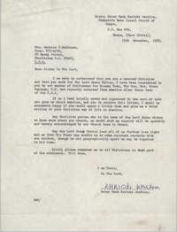 Letter from Peter Mark Kariuki Wachira to Bernice Robinson, November 15, 1972