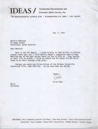 Letter from Brian Beun to Bernice Robinson, November 7, 1972