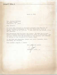 Letter from Joseph P. Riley to Bernice Robinson, March 8, 1985