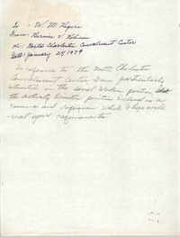 Letter Draft from Bernice V. Robinson to W. M. Rogers, January 24, 1979