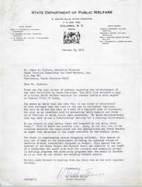 Letter from R. Archie Ellis to James E. Clyburn, January 25, 1971