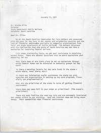 Letter from James E. Clyburn to Archie Ellis, January 11, 1971