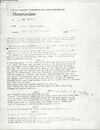 Memorandum from Walter H. Bailey to Bernice Robinson, March 1971