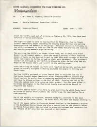 Memorandum from Bernice V. Robinson to James E. Clyburn, June 11, 1970
