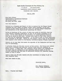 Letter from Bernice Robinson to Ruth Gilbert, June 2, 1970